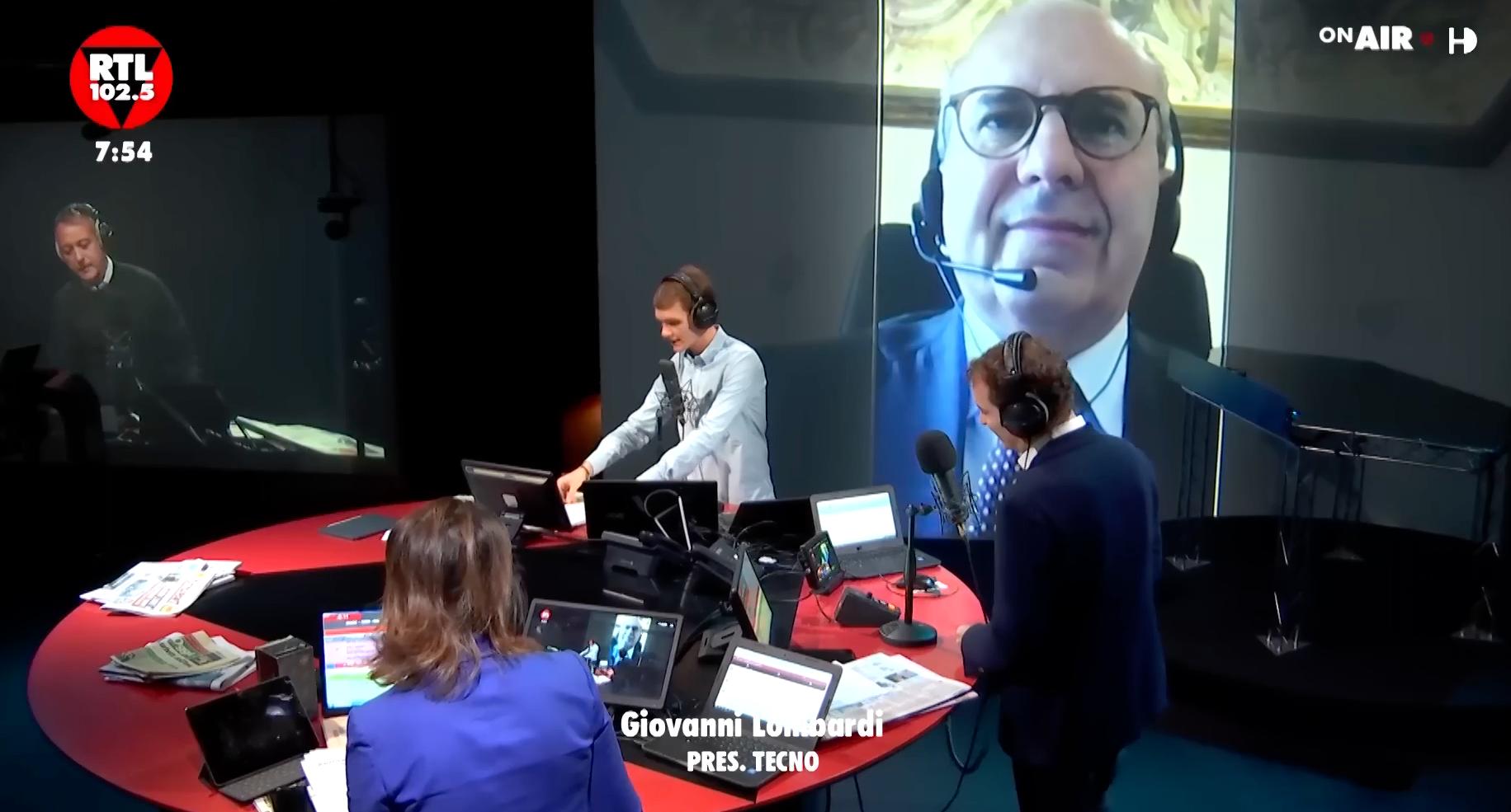 Giovanni Lombardi Tecno a RTL