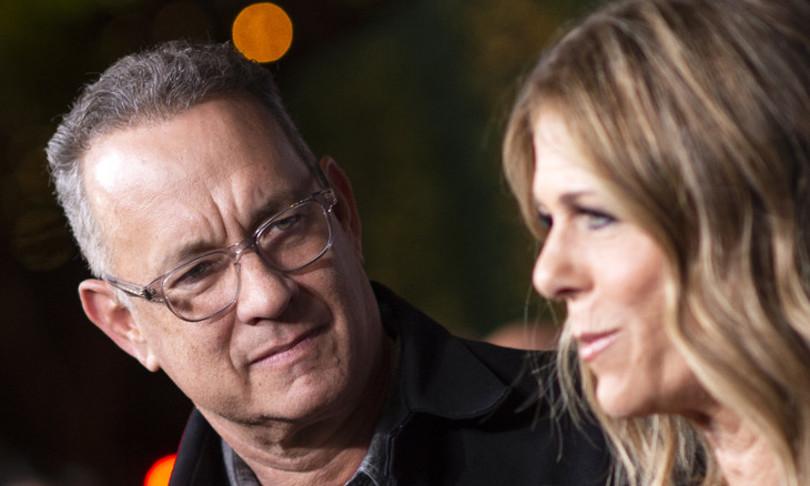 Tom Hanks e la moglie