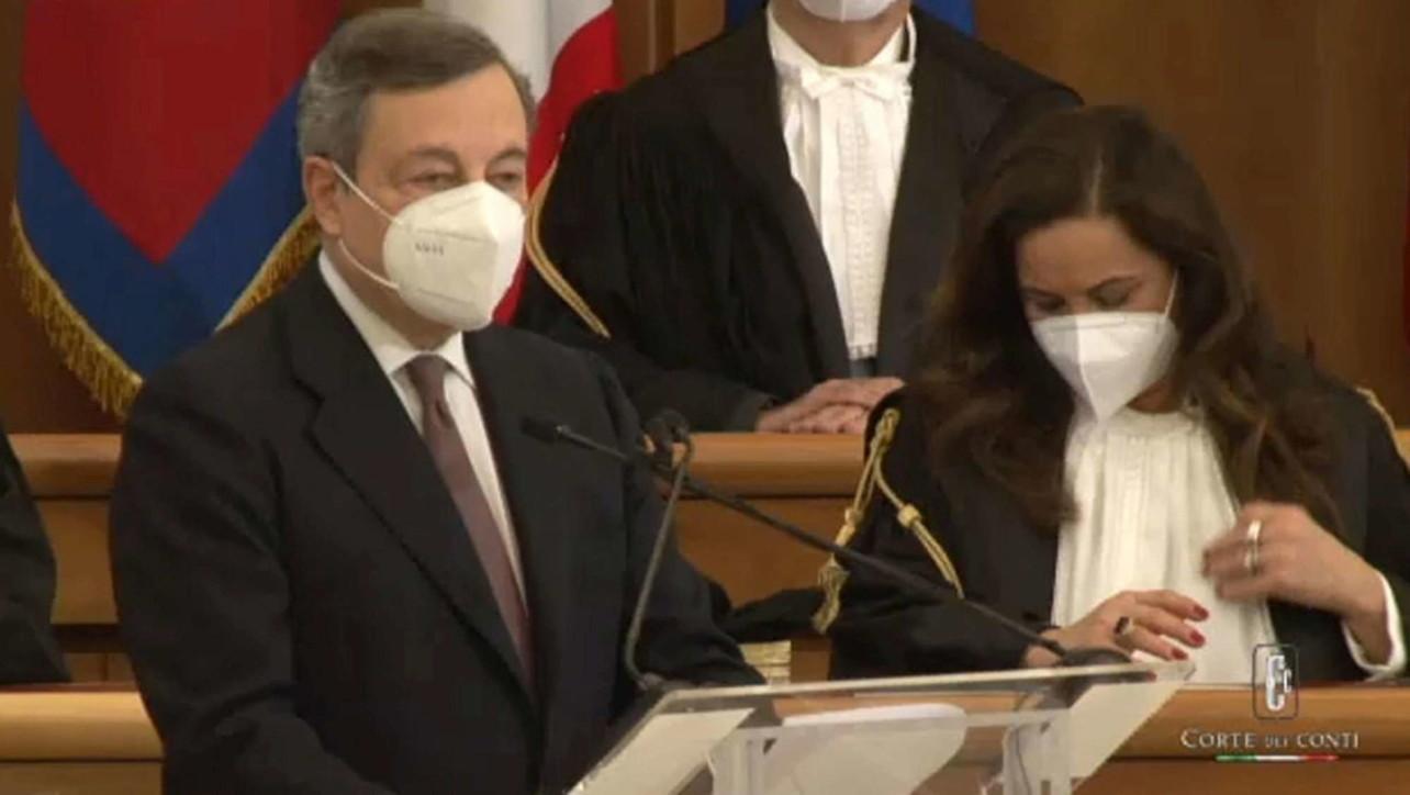 Draghi discorso inaugurale Corte dei Conti