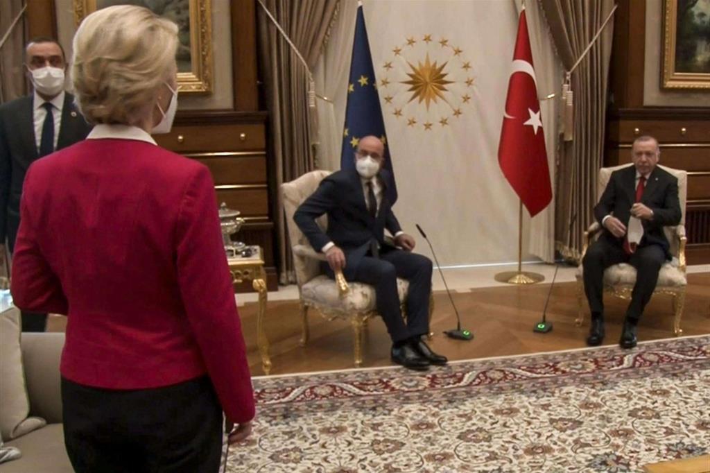 Von der Leyen e Erdogan