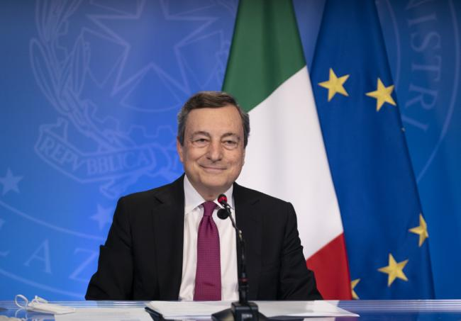Mario Draghi (premier): «Uniti come europei: le sfide sono cambiamento climatico e disuguaglianze»