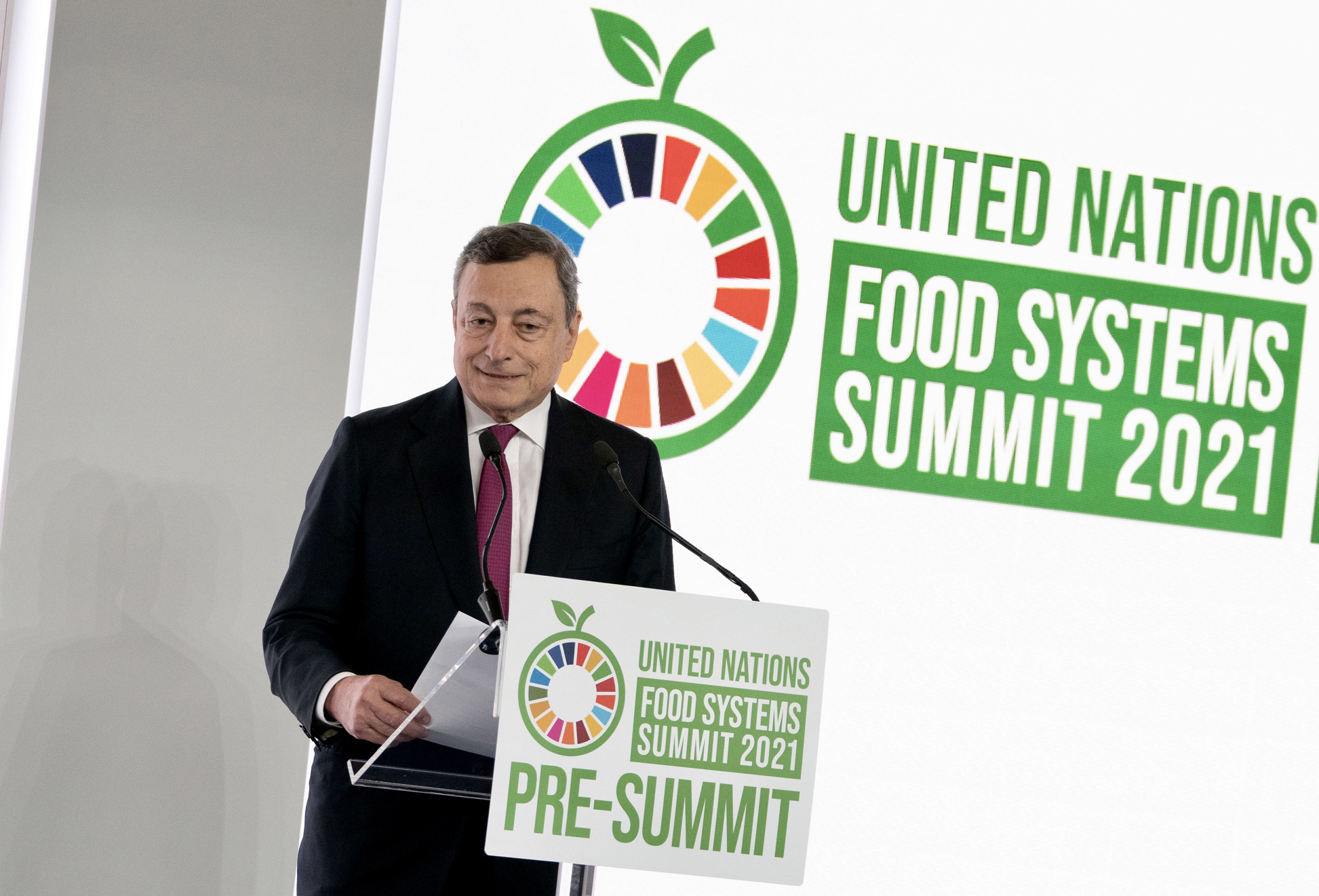Mario Draghi al Summit sui Sistemi Alimentari