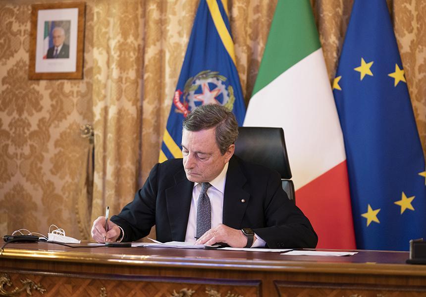 Messaggio del Premier Draghi al G20 Donne